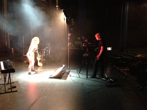 Shooting the lead singers performance