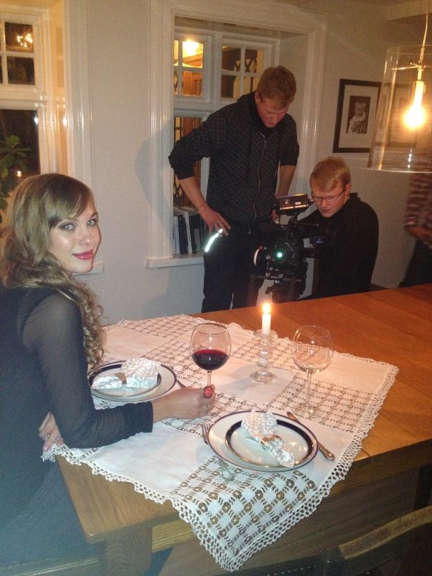 Shooting the dinner scene